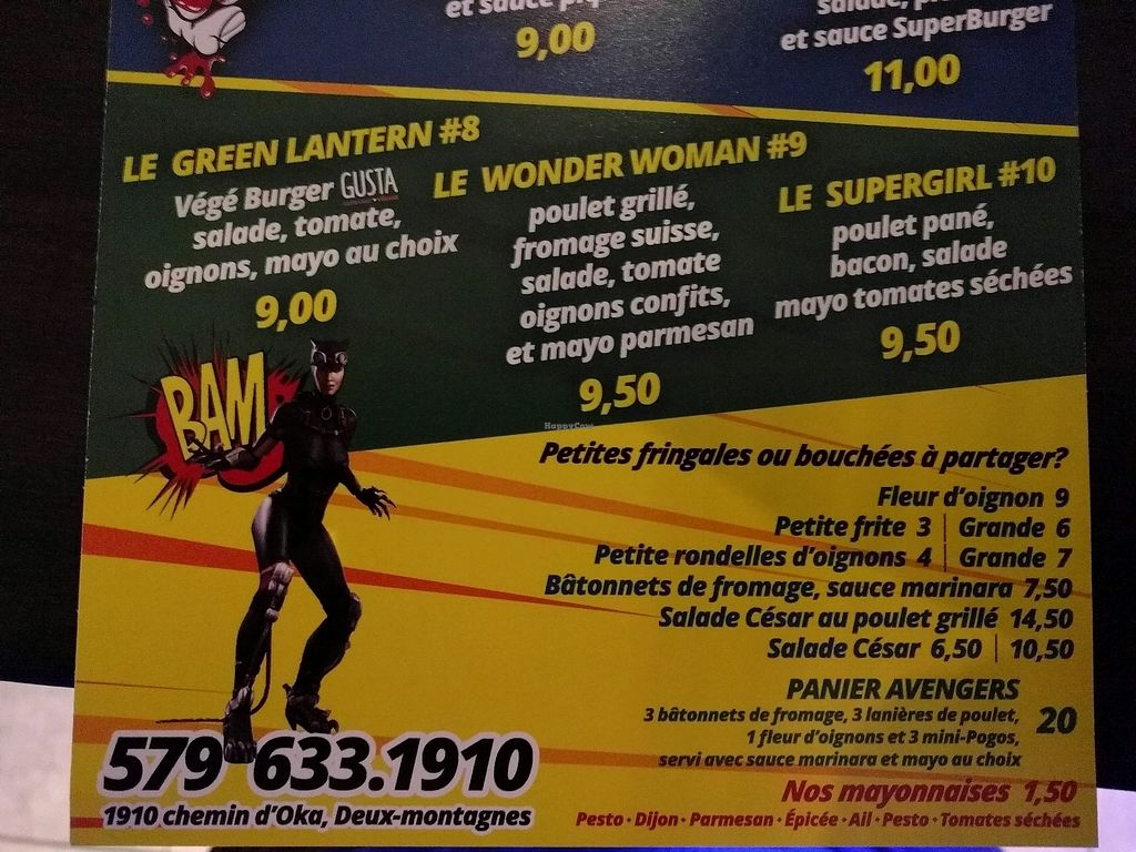 """Photo of Super Burger  by <a href=""""/members/profile/offthemeatnpath"""">offthemeatnpath</a> <br/>the green lantern is the vegan burger  <br/> December 9, 2017  - <a href='/contact/abuse/image/106242/333791'>Report</a>"""
