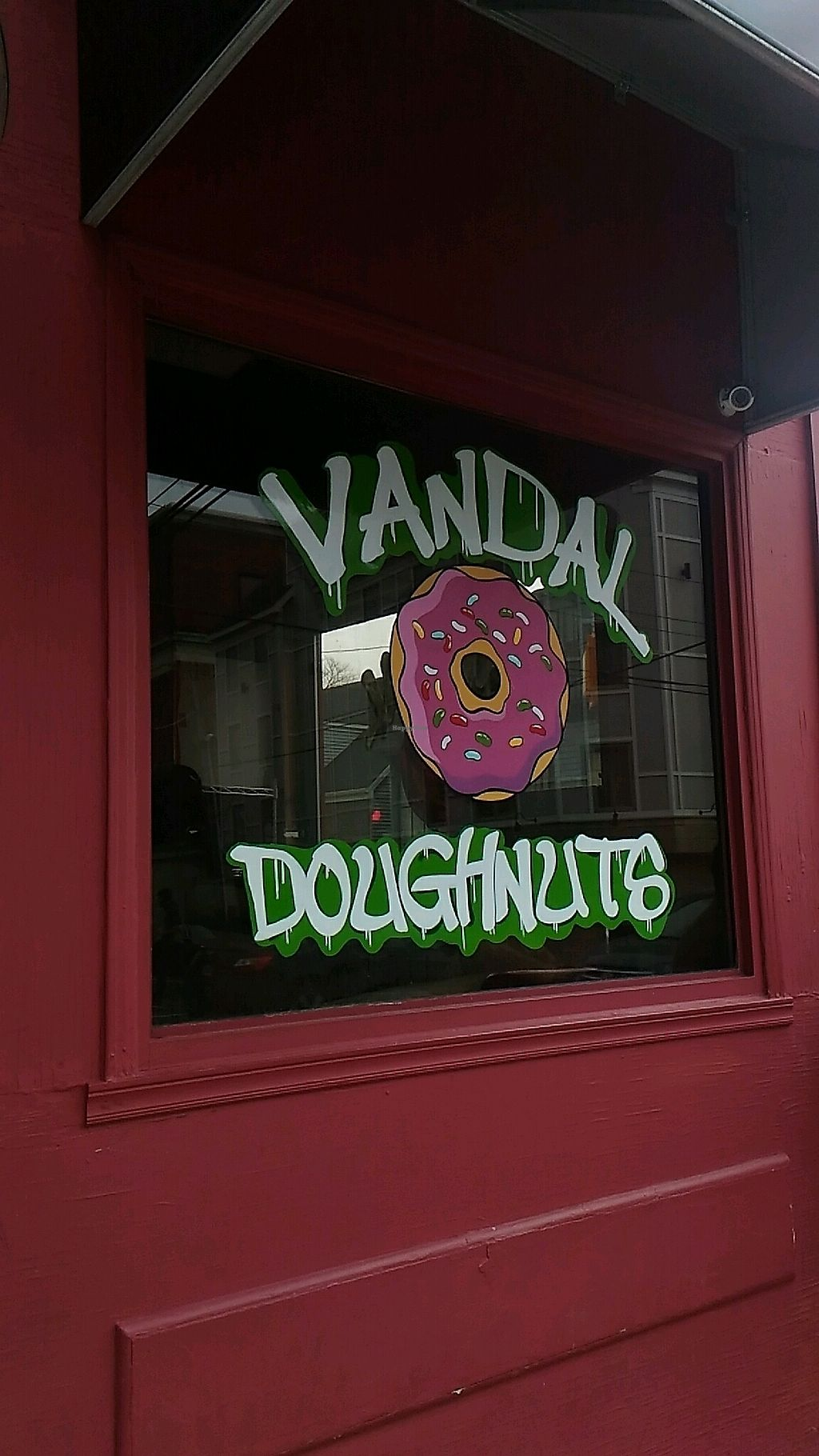 """Photo of Vandal Doughnuts  by <a href=""""/members/profile/QuothTheRaven"""">QuothTheRaven</a> <br/>window  <br/> November 30, 2017  - <a href='/contact/abuse/image/106260/330895'>Report</a>"""