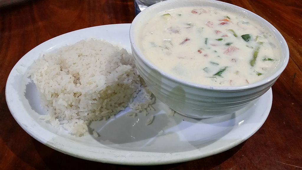 """Photo of Ko-Ox Han Nah  by <a href=""""/members/profile/mmuqtasid"""">mmuqtasid</a> <br/>Vegetable soup in coconut milk, coconut rice option <br/> November 30, 2017  - <a href='/contact/abuse/image/106271/330780'>Report</a>"""