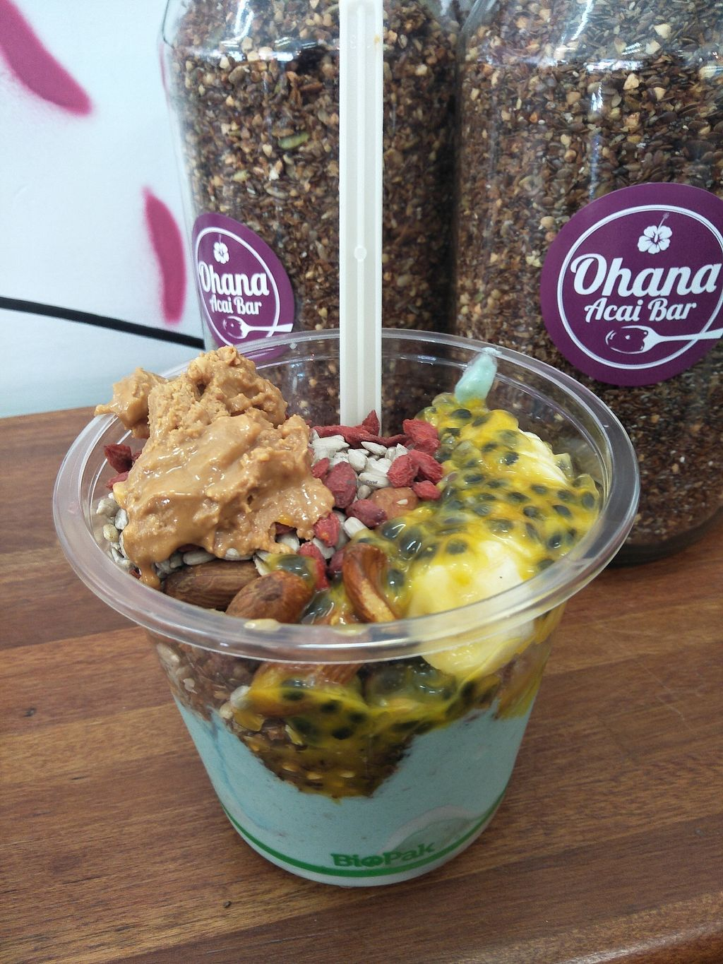 """Photo of Ohana Acai Bar  by <a href=""""/members/profile/Cynthia1998"""">Cynthia1998</a> <br/>Ocean bowl <br/> January 16, 2018  - <a href='/contact/abuse/image/106285/347139'>Report</a>"""