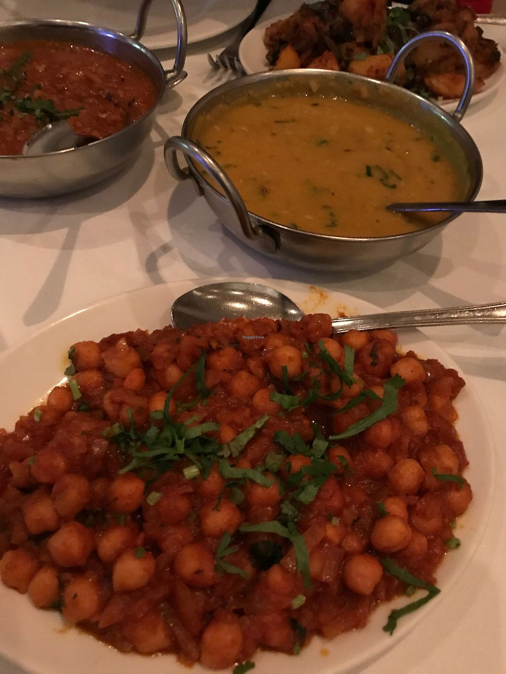 "Photo of Cumin Club  by <a href=""/members/profile/TARAMCDONALD"">TARAMCDONALD</a> <br/>Chick peas and yellow lentil dahl.  Ask them and they can make this vegan for you!  <br/> February 18, 2018  - <a href='/contact/abuse/image/106287/361031'>Report</a>"