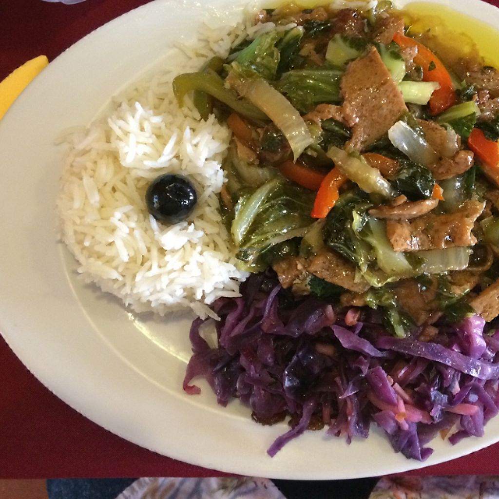 """Photo of Os Tibetanos  by <a href=""""/members/profile/DavidMarques"""">DavidMarques</a> <br/>vegan seitan dish! <br/> July 5, 2016  - <a href='/contact/abuse/image/1062/241139'>Report</a>"""