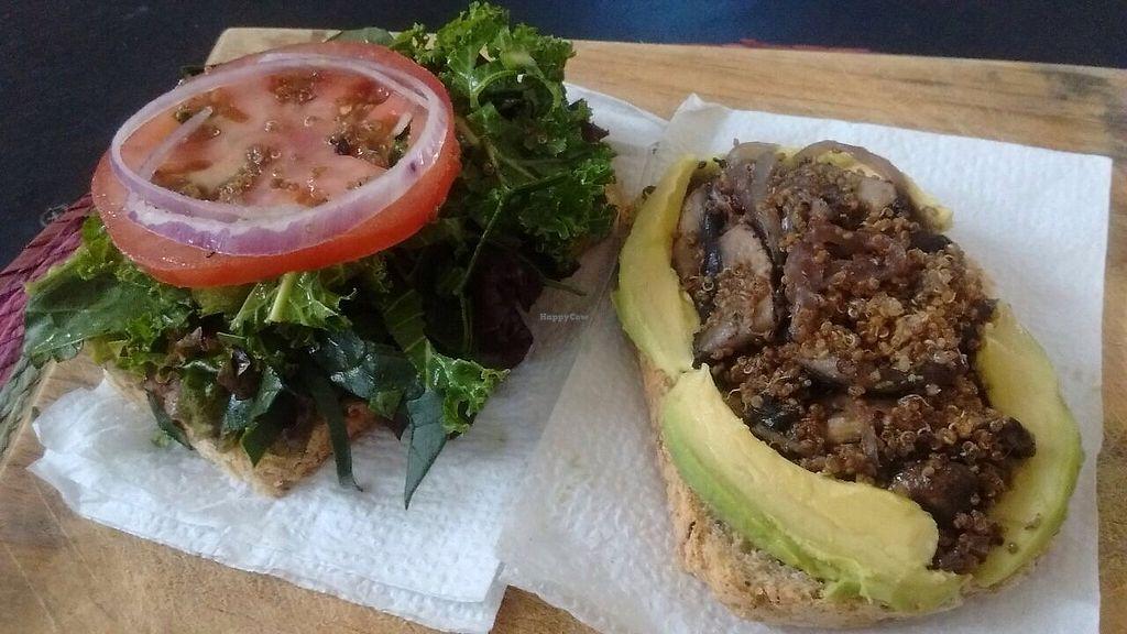 "Photo of Vengan by Vros  by <a href=""/members/profile/Encondalt"">Encondalt</a> <br/>Artesanal bread, quinoa, portobello mushroom, Kale, spinach, avocado and beans sandwich <br/> November 30, 2017  - <a href='/contact/abuse/image/106303/330925'>Report</a>"