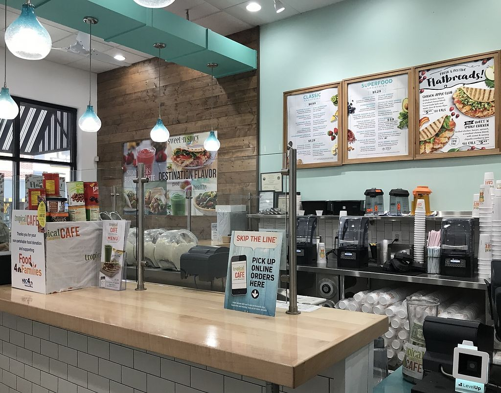 """Photo of Tropical Smoothie Cafe  by <a href=""""/members/profile/Alysoun%20Mahoney"""">Alysoun Mahoney</a> <br/>Tropical Smoothie Cafe counter - Frederick MD <br/> December 8, 2017  - <a href='/contact/abuse/image/106316/333279'>Report</a>"""