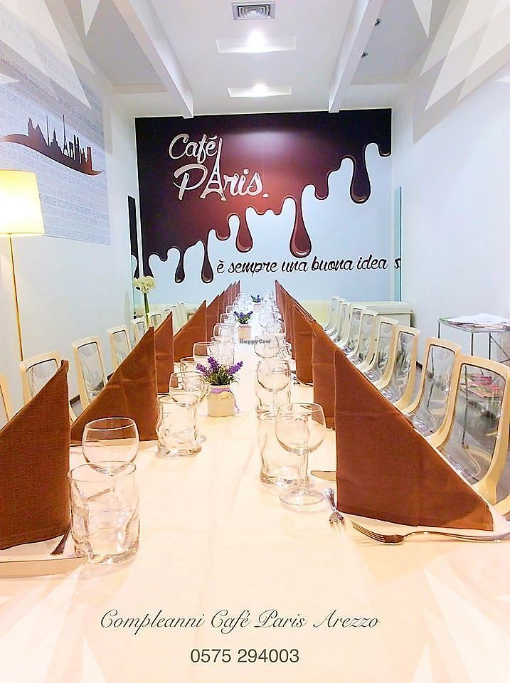 "Photo of Cafe Paris Arezzo  by <a href=""/members/profile/CafeParisArezzo"">CafeParisArezzo</a> <br/>Restaurant in Arezzo centre, open all days for groups stop lunch, veg friendly, near frescoes and railway <br/> December 10, 2017  - <a href='/contact/abuse/image/106321/334425'>Report</a>"