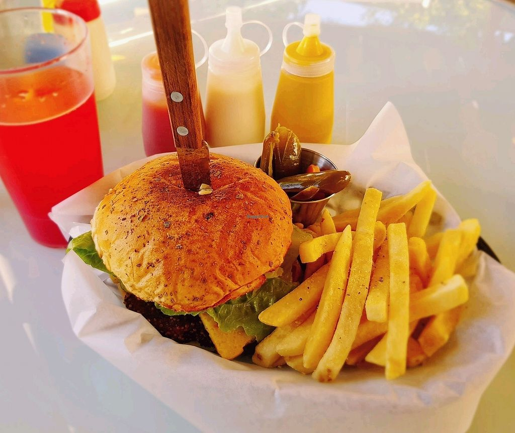 """Photo of El Paraje   by <a href=""""/members/profile/Rudy"""">Rudy</a> <br/>Hamburguesa Vegana <br/> February 5, 2018  - <a href='/contact/abuse/image/106371/355092'>Report</a>"""