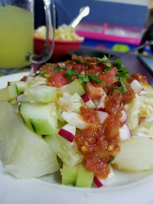 "Photo of Restaurante Yesnia  by <a href=""/members/profile/LorenaAlbillo"">LorenaAlbillo</a> <br/>Yuca Salcochada  <br/> December 3, 2017  - <a href='/contact/abuse/image/106435/331786'>Report</a>"