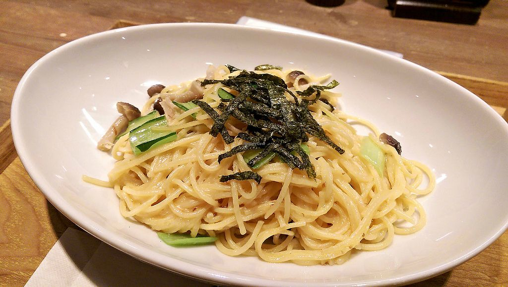 """Photo of T's Tantan - Ueno  by <a href=""""/members/profile/missava"""">missava</a> <br/>Spaghetti with Vegan Tarako Sauce - this dish is amazing! Creamy, umami and tasty! Triple threat! Only available at the Ueno station location <br/> May 19, 2018  - <a href='/contact/abuse/image/106436/402063'>Report</a>"""
