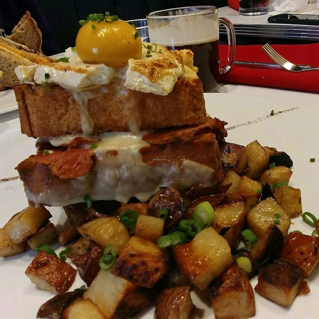 """Photo of Mythology Diner  by <a href=""""/members/profile/AngryToaster"""">AngryToaster</a> <br/>croque madame <br/> February 11, 2018  - <a href='/contact/abuse/image/106455/357926'>Report</a>"""