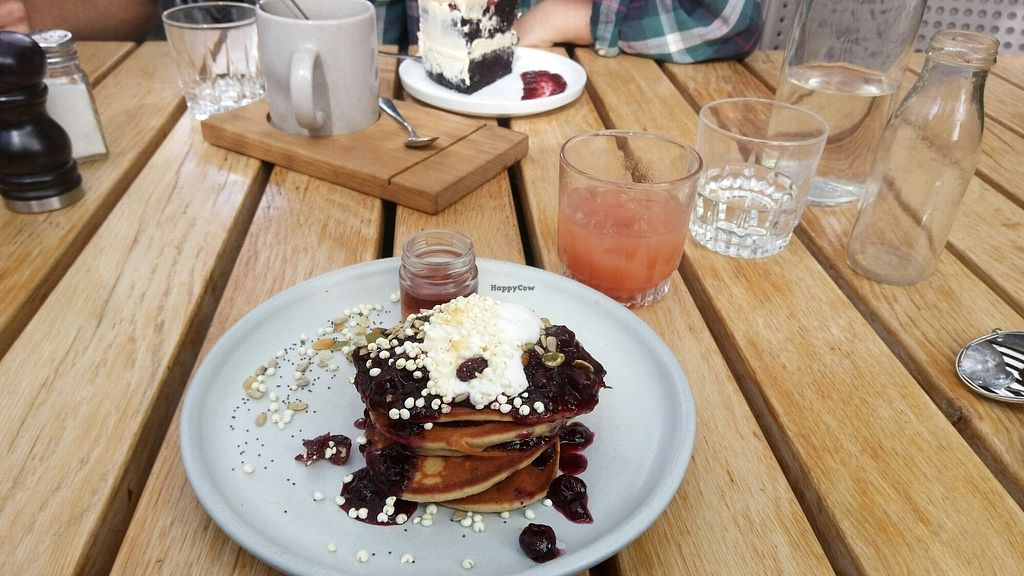 """Photo of Yonder  by <a href=""""/members/profile/AnnaTremayne"""">AnnaTremayne</a> <br/>gf, vegan pancakes , gf vegan chocolate cake  <br/> March 18, 2018  - <a href='/contact/abuse/image/106465/372616'>Report</a>"""