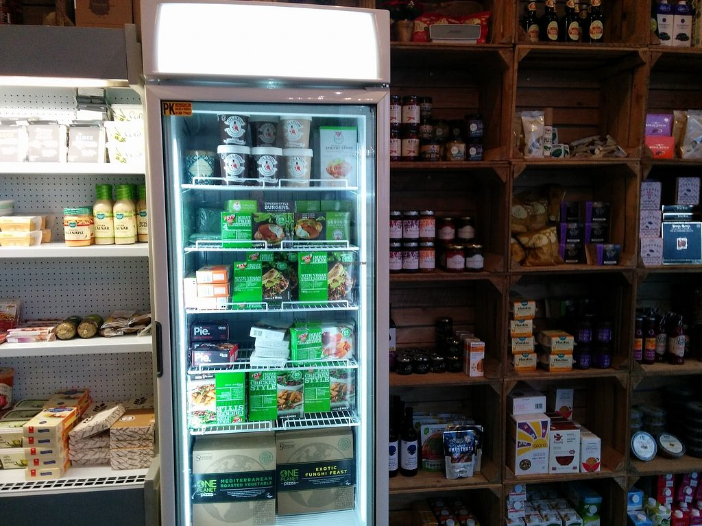 """Photo of The Acorn Veggie Deli  by <a href=""""/members/profile/CLRtraveller"""">CLRtraveller</a> <br/>product shelves in the cafe  <br/> January 10, 2018  - <a href='/contact/abuse/image/106560/345070'>Report</a>"""