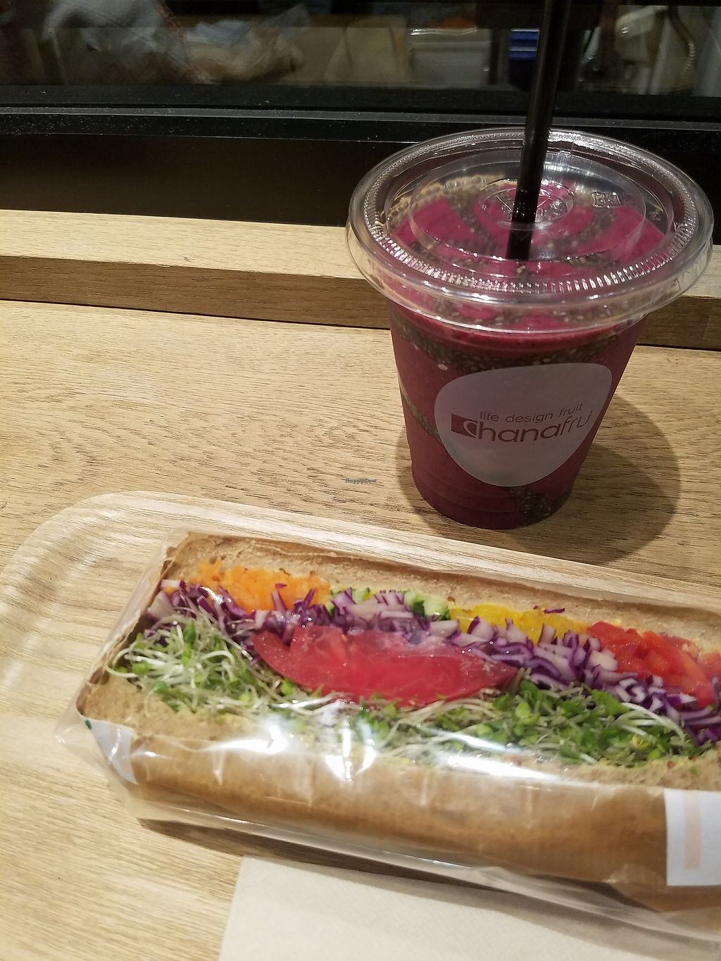 """Photo of Hanafru Parachutes  by <a href=""""/members/profile/ReiAmber"""">ReiAmber</a> <br/>chia seed smoothie and sandwich <br/> May 8, 2018  - <a href='/contact/abuse/image/106576/396954'>Report</a>"""