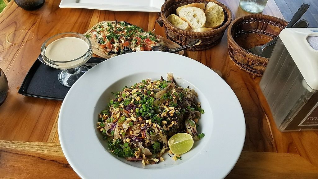"""Photo of Coleos Cafe  by <a href=""""/members/profile/eric"""">eric</a> <br/>vegan pad Thai and fire eggplant <br/> December 5, 2017  - <a href='/contact/abuse/image/106600/332363'>Report</a>"""
