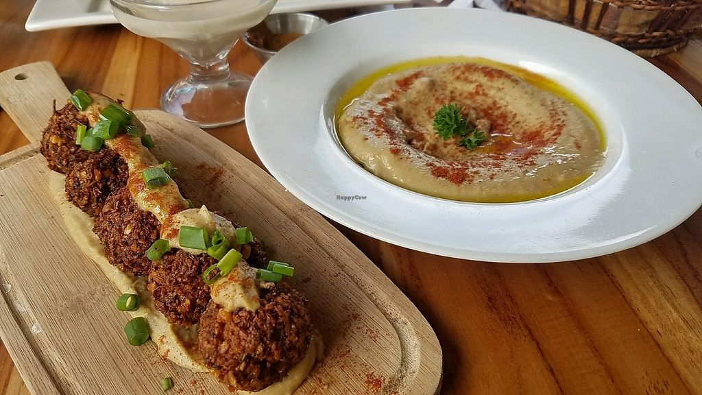 """Photo of Coleos Cafe  by <a href=""""/members/profile/eric"""">eric</a> <br/>falafel and hummus <br/> December 5, 2017  - <a href='/contact/abuse/image/106600/332364'>Report</a>"""