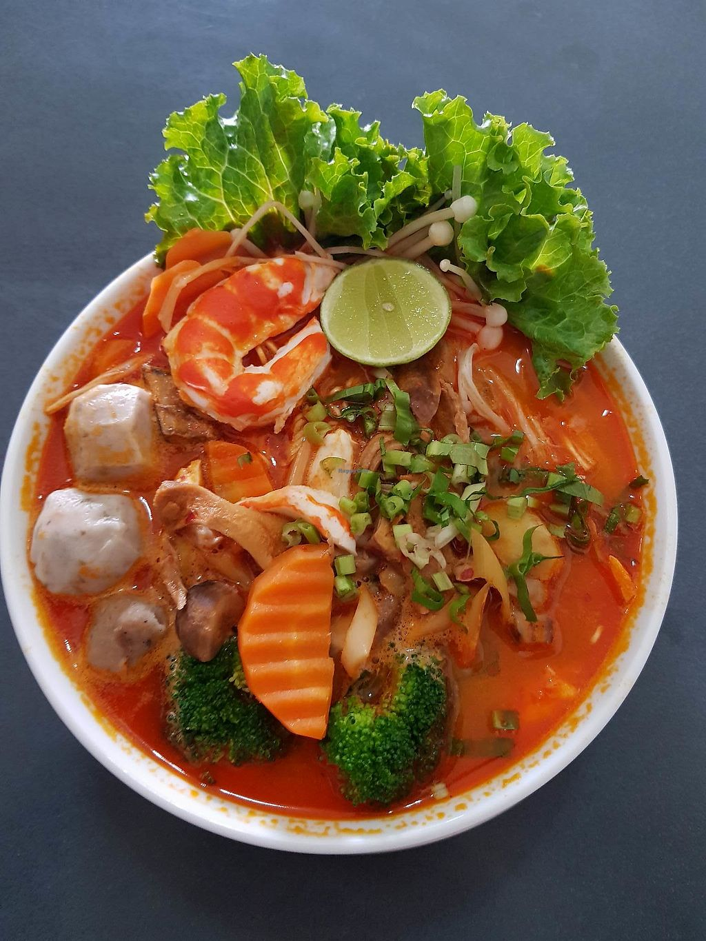 "Photo of Kor An Doeuk Vegetarian Food & Cafe  by <a href=""/members/profile/tauchung"">tauchung</a> <br/>Tom-yam Noodle <br/> January 6, 2018  - <a href='/contact/abuse/image/106622/343471'>Report</a>"