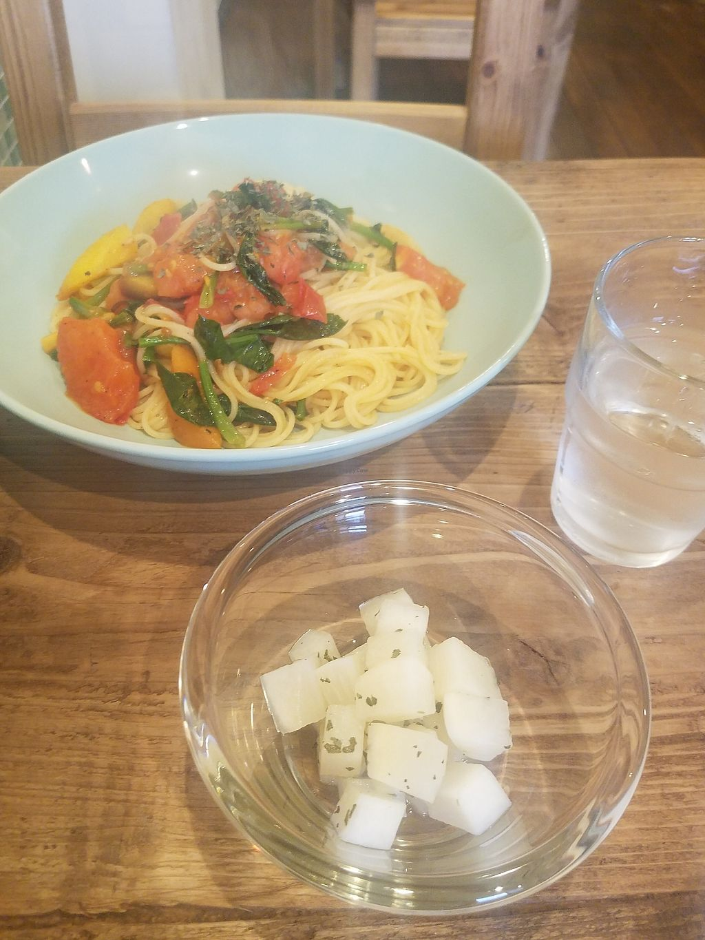 "Photo of Gorey Cafe  by <a href=""/members/profile/ReiAmber"">ReiAmber</a> <br/>local vegetable pasta and daikon salad <br/> February 18, 2018  - <a href='/contact/abuse/image/106637/360698'>Report</a>"