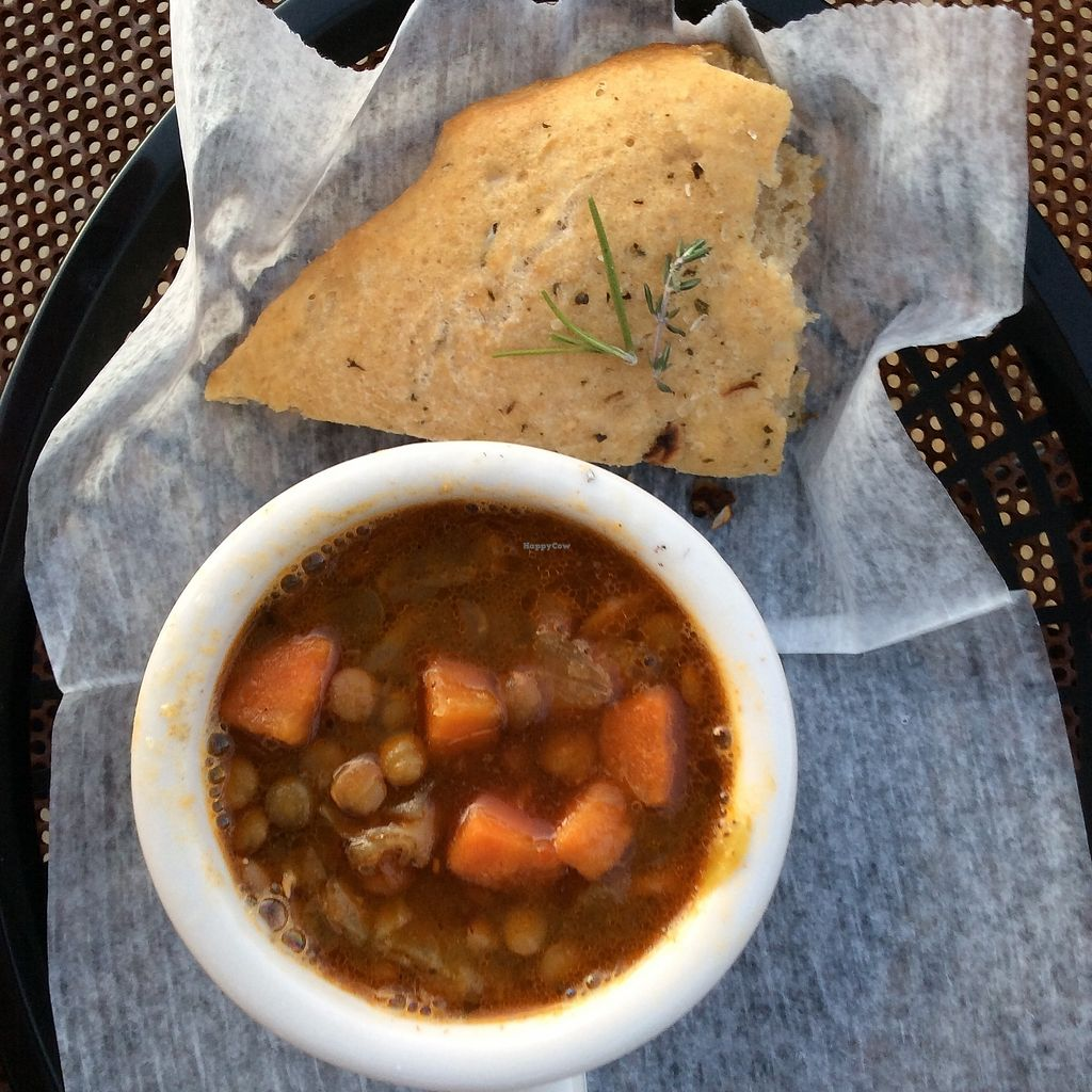 """Photo of Water & Wheat Cafe & Bakery  by <a href=""""/members/profile/JoshCatrambone"""">JoshCatrambone</a> <br/>Hot soup <br/> December 6, 2017  - <a href='/contact/abuse/image/106671/332945'>Report</a>"""