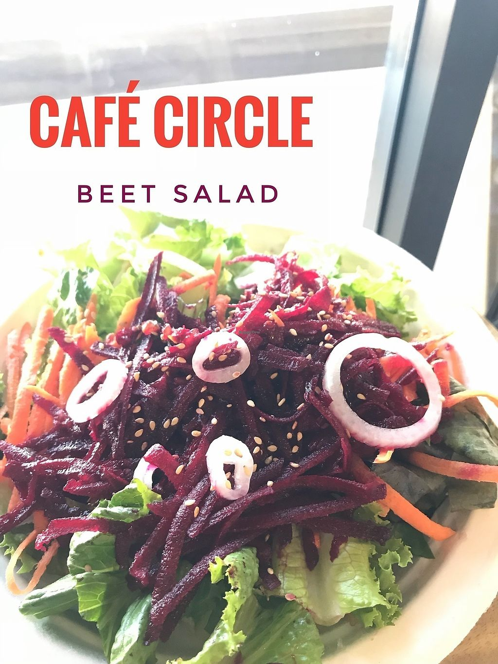"""Photo of Cafe Circle  by <a href=""""/members/profile/happy1"""">happy1</a> <br/>Vegan Beet Salad <br/> January 31, 2018  - <a href='/contact/abuse/image/106681/352972'>Report</a>"""