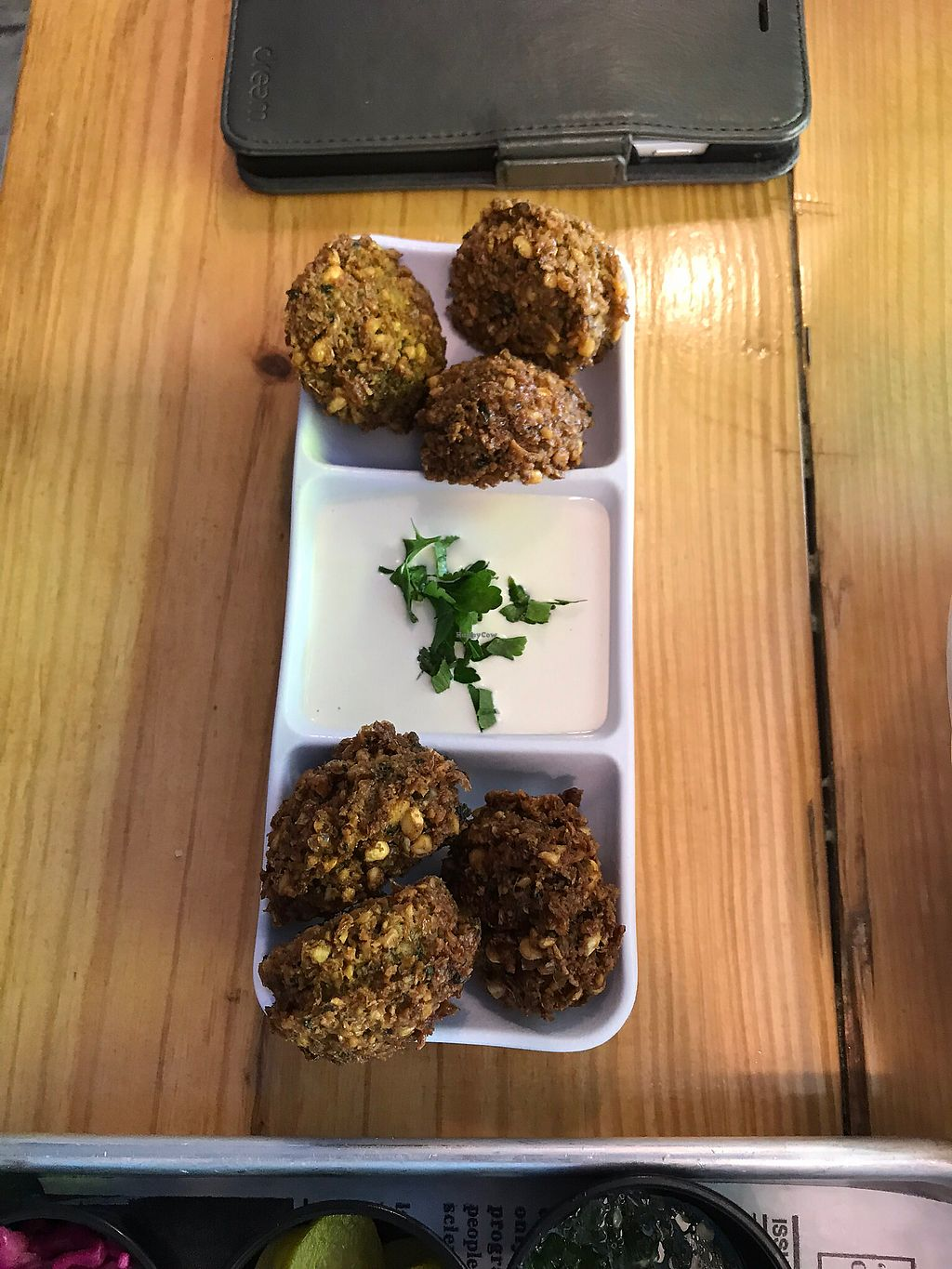 """Photo of The Hummus House  by <a href=""""/members/profile/foolsircle"""">foolsircle</a> <br/>Falafel Appetizer <br/> March 27, 2018  - <a href='/contact/abuse/image/106686/376688'>Report</a>"""