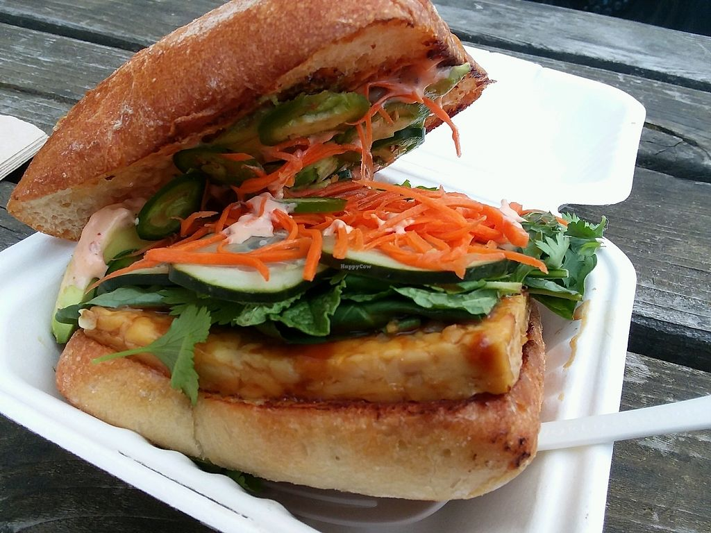 """Photo of Supernova Vegan - Food Trailer  by <a href=""""/members/profile/NiwradStrider"""">NiwradStrider</a> <br/>Bahn Mi Sandwich <br/> April 19, 2018  - <a href='/contact/abuse/image/106691/387911'>Report</a>"""