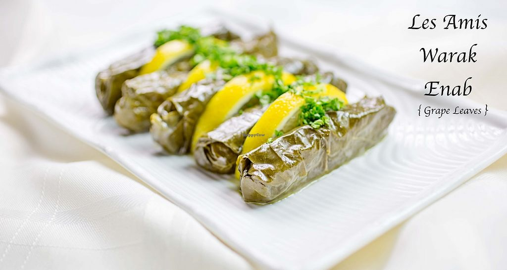 """Photo of Les Amis Restaurant  by <a href=""""/members/profile/JinanMontecristo"""">JinanMontecristo</a> <br/>Warak Enab, stuffed grape leaves with Egyptian rice and garbanzo bean, green onion, parsley, mint, pine nuts, olive oil, fresh lemon juice and spices <br/> March 19, 2018  - <a href='/contact/abuse/image/106696/372952'>Report</a>"""