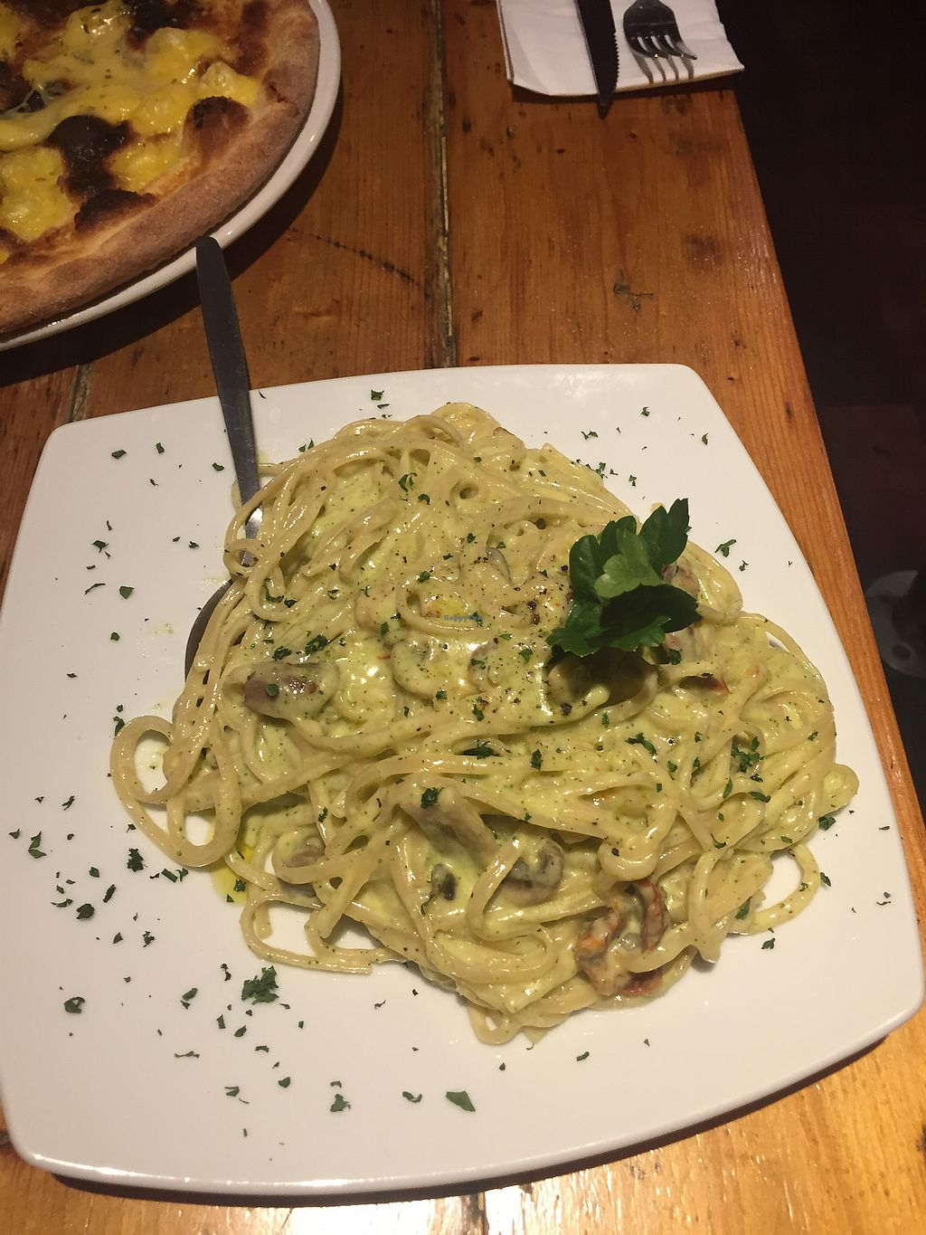 """Photo of Stingray  by <a href=""""/members/profile/Yasminesan"""">Yasminesan</a> <br/>Pasta special - creamy truffle sauce with mushrooms and broccoli  <br/> January 30, 2018  - <a href='/contact/abuse/image/106706/352936'>Report</a>"""