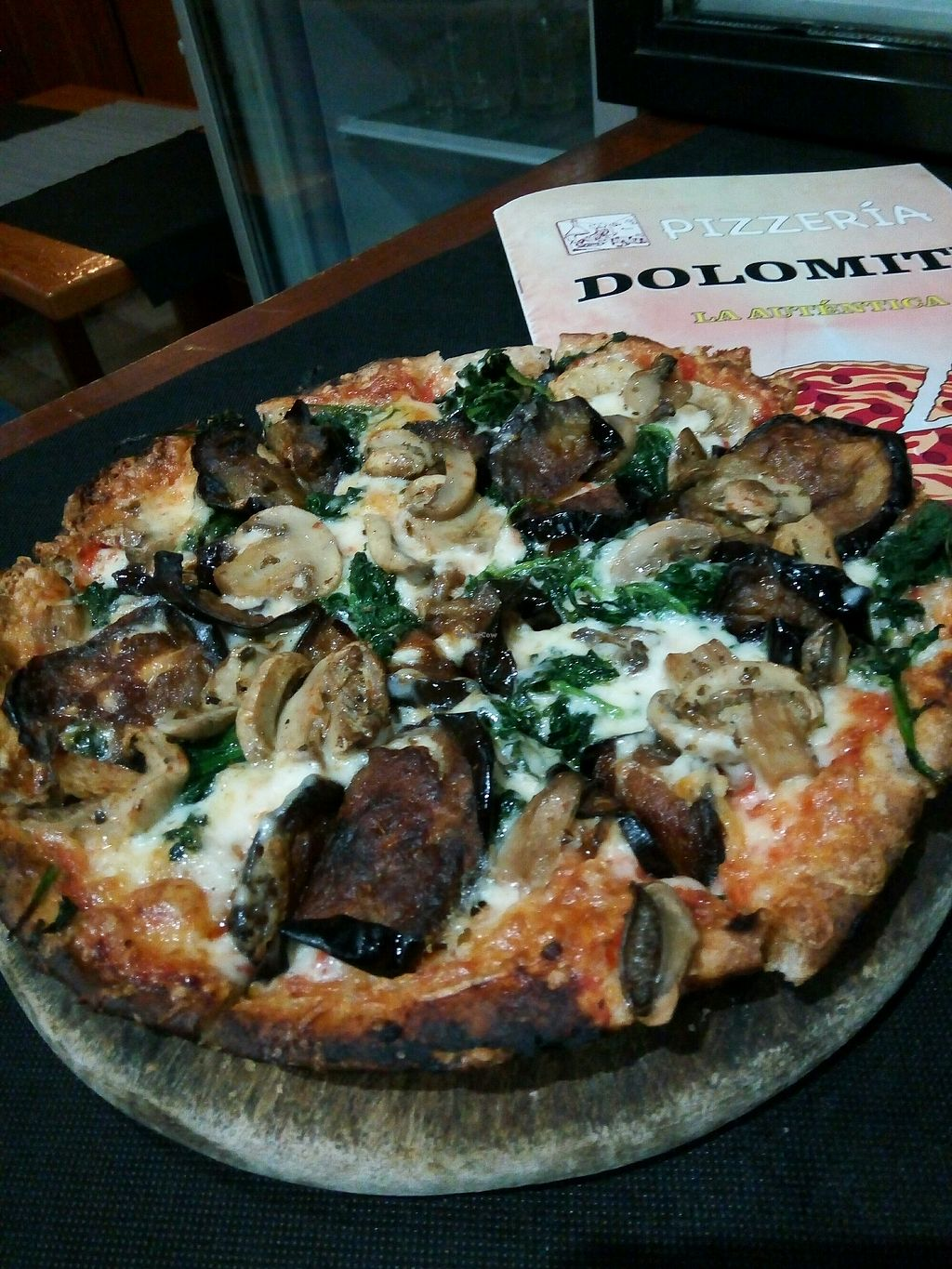 """Photo of Pizzeria Dolomiti  by <a href=""""/members/profile/Caracola"""">Caracola</a> <br/>pizza vegana arrabbiata <br/> March 7, 2018  - <a href='/contact/abuse/image/106718/367777'>Report</a>"""