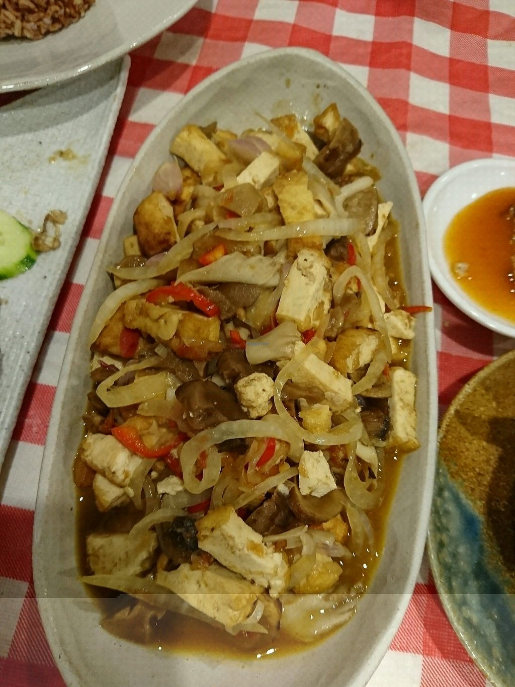 """Photo of Mahob Buos  by <a href=""""/members/profile/Desley"""">Desley</a> <br/>tofu with mushroom sauces <br/> February 13, 2018  - <a href='/contact/abuse/image/106738/358856'>Report</a>"""