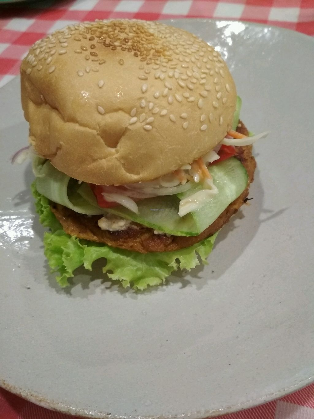 """Photo of Mahob Buos  by <a href=""""/members/profile/evasveganlove"""">evasveganlove</a> <br/>best vegan burger in asia.  <br/> March 3, 2018  - <a href='/contact/abuse/image/106738/366201'>Report</a>"""