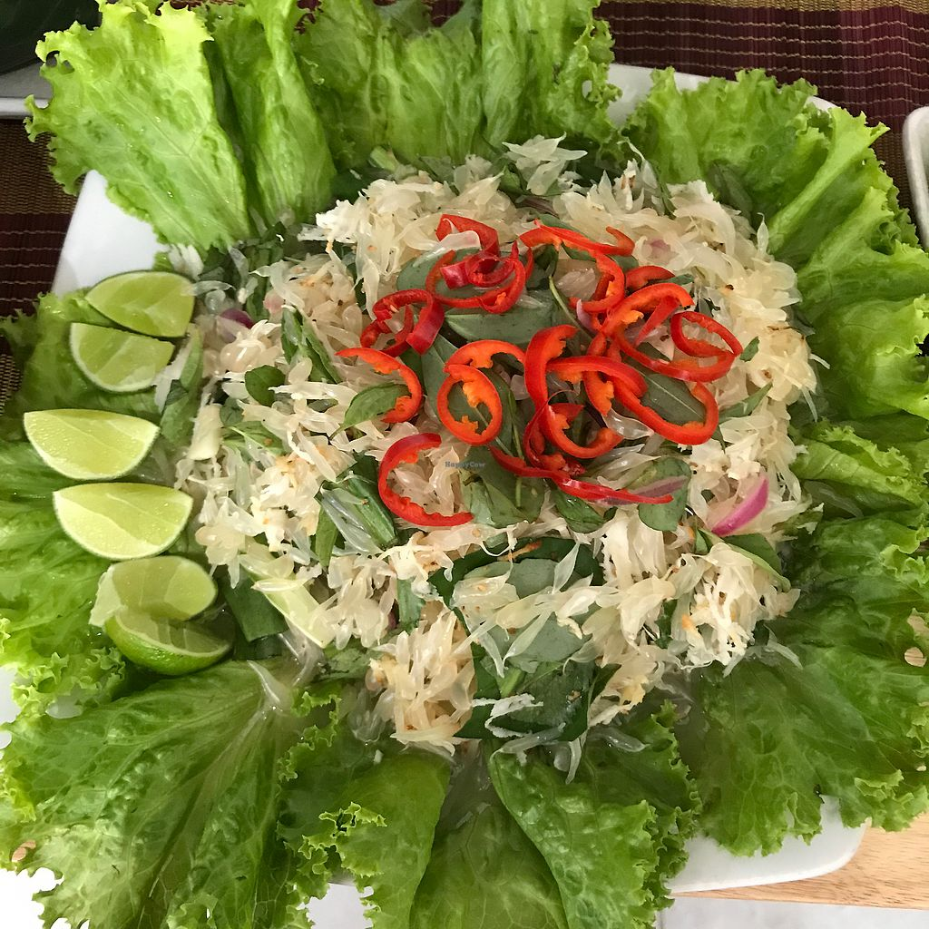 """Photo of Mahob Buos  by <a href=""""/members/profile/juliettefrenchvegan"""">juliettefrenchvegan</a> <br/>Grapefruit salad <br/> March 9, 2018  - <a href='/contact/abuse/image/106738/368413'>Report</a>"""
