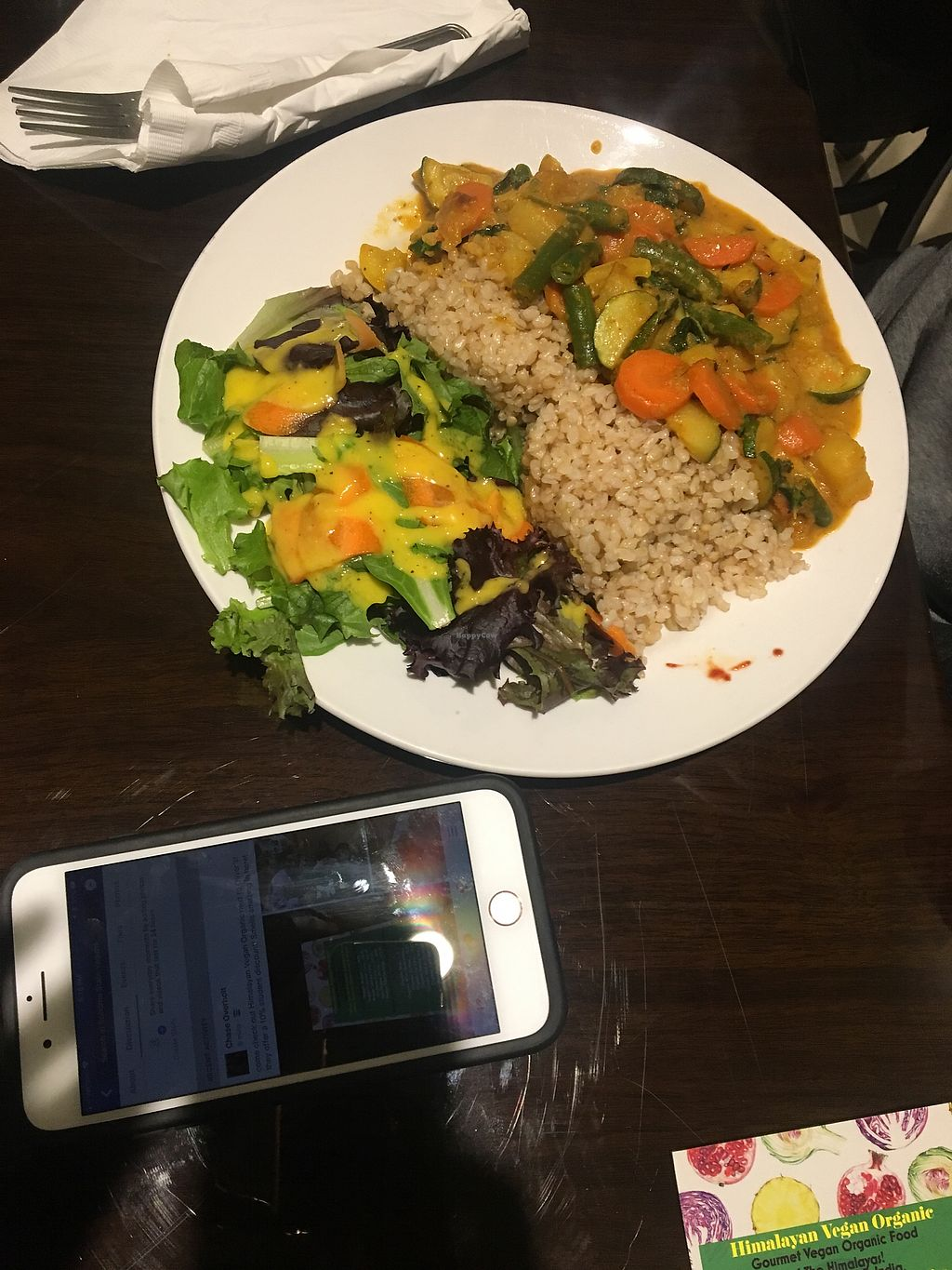 """Photo of Himalayan Organic Cafe  by <a href=""""/members/profile/DejaWhitney"""">DejaWhitney</a> <br/>Coconut curry <br/> December 15, 2017  - <a href='/contact/abuse/image/106760/335694'>Report</a>"""