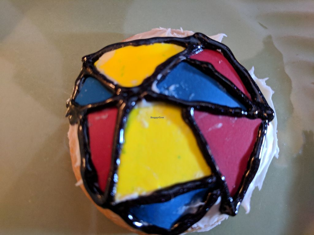 """Photo of Polymath Educational Cafe  by <a href=""""/members/profile/Chillincat"""">Chillincat</a> <br/>Stain Glass Cookie <br/> January 30, 2018  - <a href='/contact/abuse/image/106769/352886'>Report</a>"""