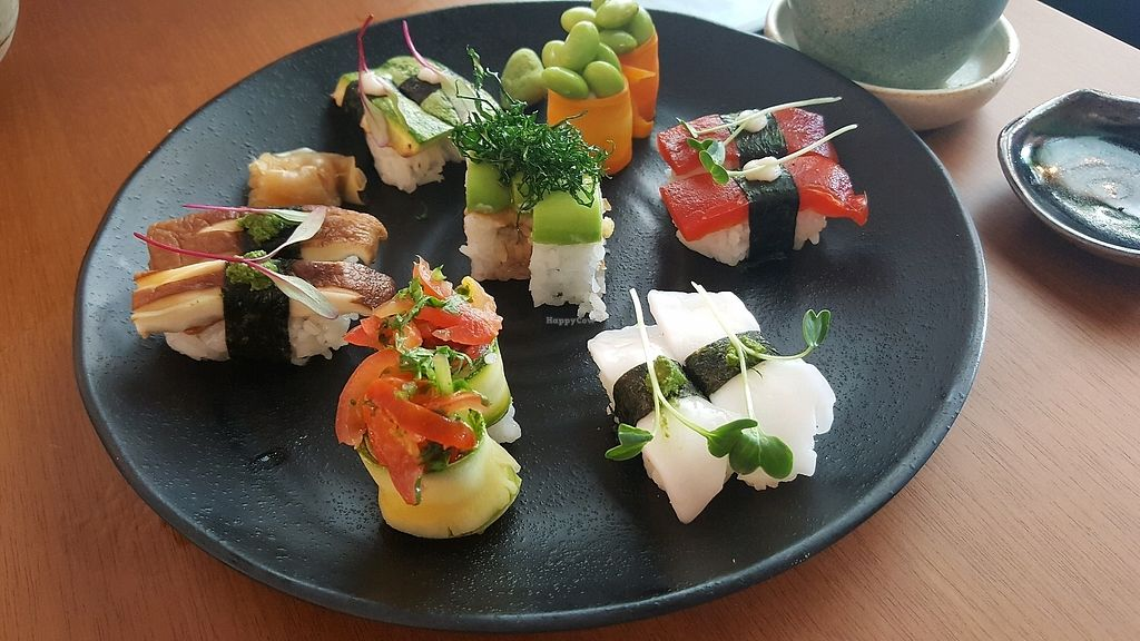 """Photo of Sushimar Vegano  by <a href=""""/members/profile/FernSato"""">FernSato</a> <br/>Sushi combination <br/> January 9, 2018  - <a href='/contact/abuse/image/106773/344701'>Report</a>"""