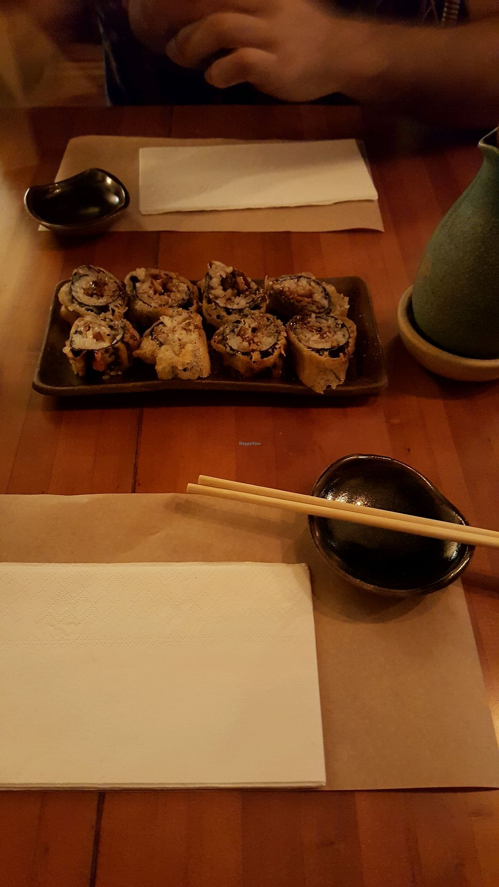 """Photo of Sushimar Vegano  by <a href=""""/members/profile/FernSato"""">FernSato</a> <br/>Shimeji hot rolls <br/> January 9, 2018  - <a href='/contact/abuse/image/106773/344703'>Report</a>"""