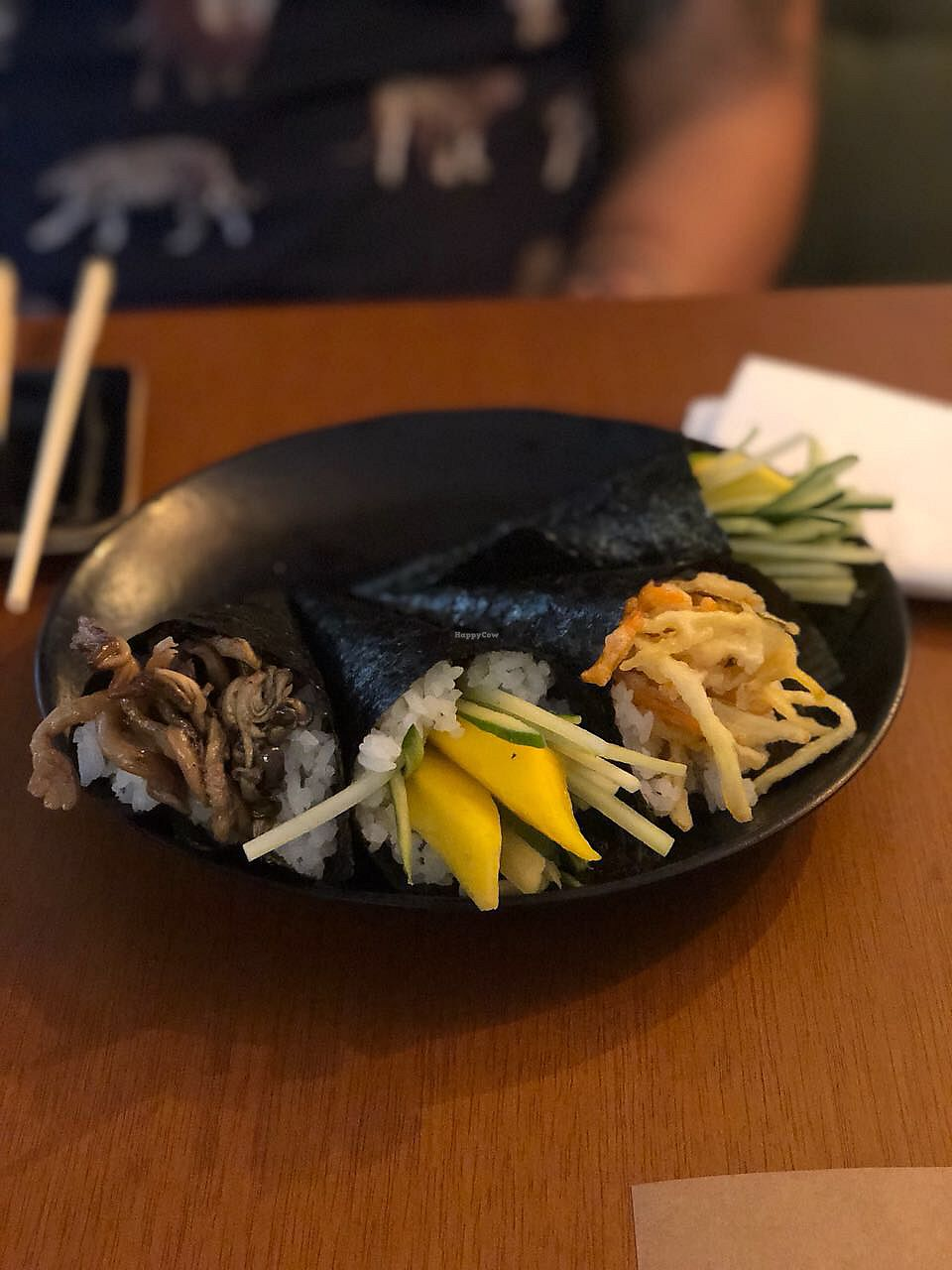"""Photo of Sushimar Vegano  by <a href=""""/members/profile/RhaissaSoares"""">RhaissaSoares</a> <br/>Temaki plate  <br/> February 10, 2018  - <a href='/contact/abuse/image/106773/357377'>Report</a>"""