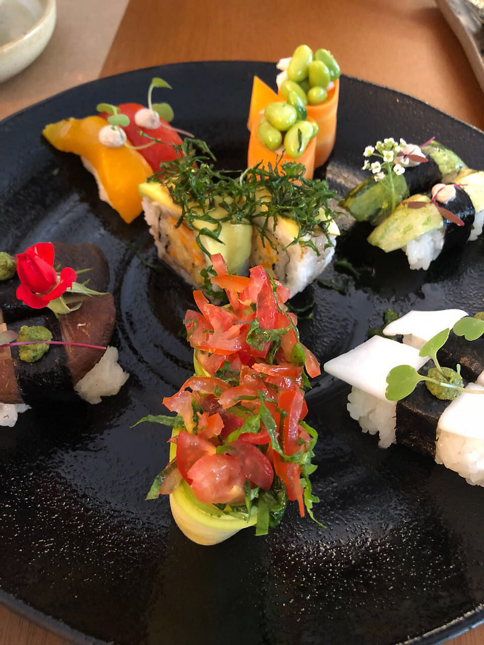 """Photo of Sushimar Vegano  by <a href=""""/members/profile/RhaissaSoares"""">RhaissaSoares</a> <br/>Sushi plate <br/> February 10, 2018  - <a href='/contact/abuse/image/106773/357380'>Report</a>"""