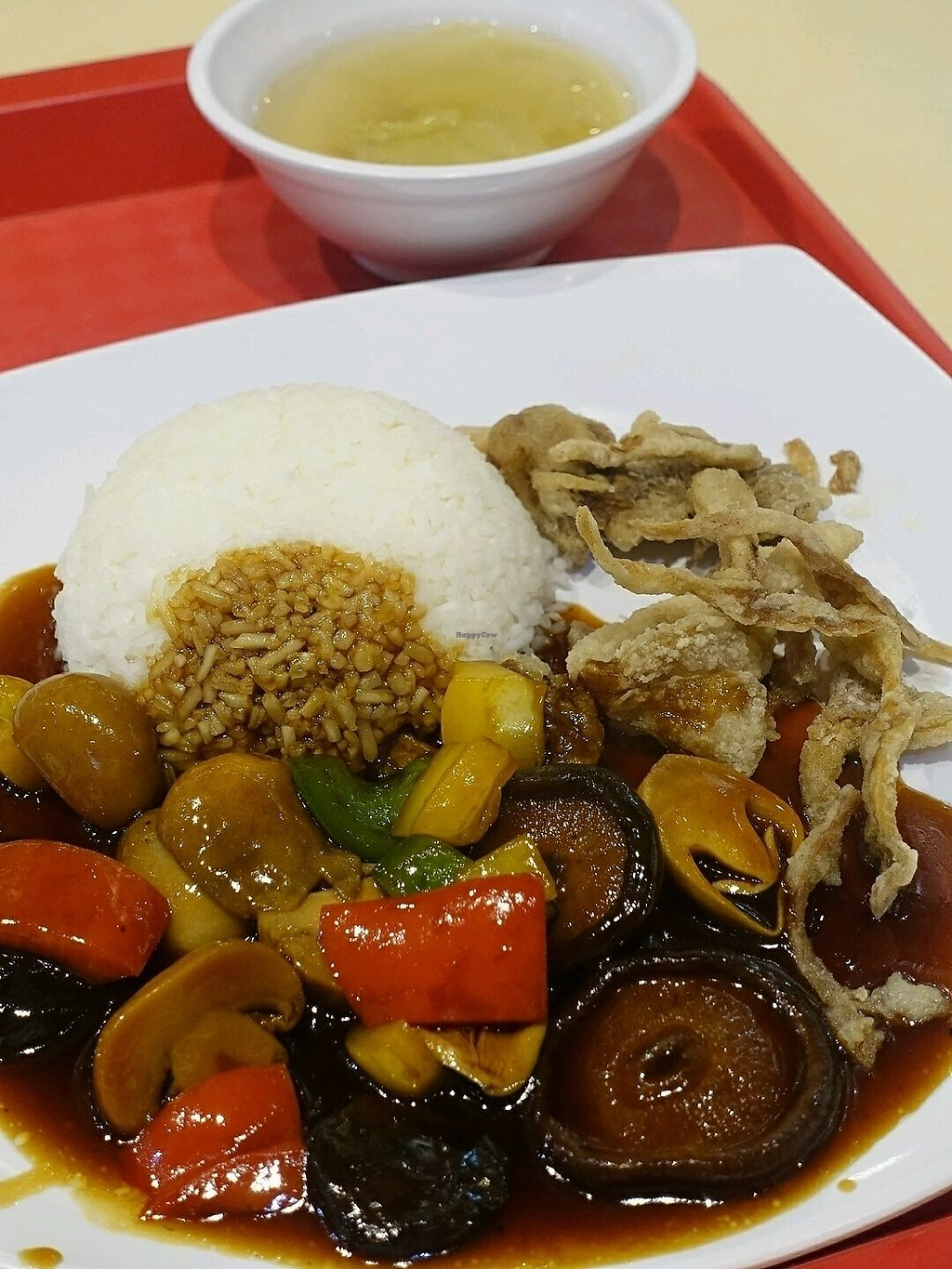 """Photo of CLOSED: San Guo Vegetarian Cuisine  by <a href=""""/members/profile/JimmySeah"""">JimmySeah</a> <br/>stew 3 mushroom rice. combination of 3 types of mushrooms  <br/> December 9, 2017  - <a href='/contact/abuse/image/106850/333580'>Report</a>"""