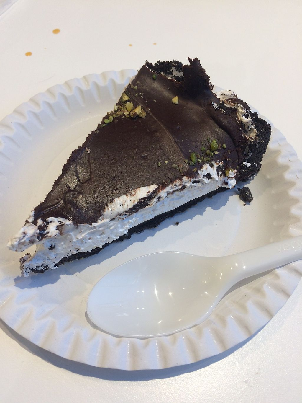 """Photo of Loving Hut - Spalena  by <a href=""""/members/profile/AnetaB%C3%A1rtov%C3%A1"""">AnetaBártová</a> <br/>Delicious oreo cheesecake!  <br/> March 3, 2018  - <a href='/contact/abuse/image/106853/366155'>Report</a>"""
