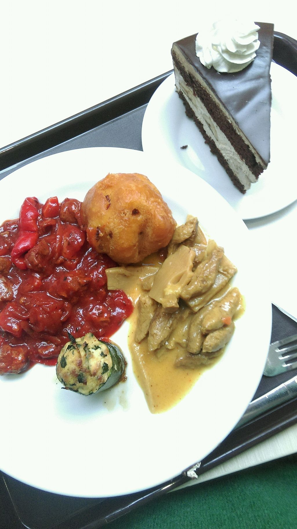 """Photo of Loving Hut - Spalena  by <a href=""""/members/profile/Sirimande"""">Sirimande</a> <br/>buffet food and chocolate cake <br/> April 2, 2018  - <a href='/contact/abuse/image/106853/379834'>Report</a>"""