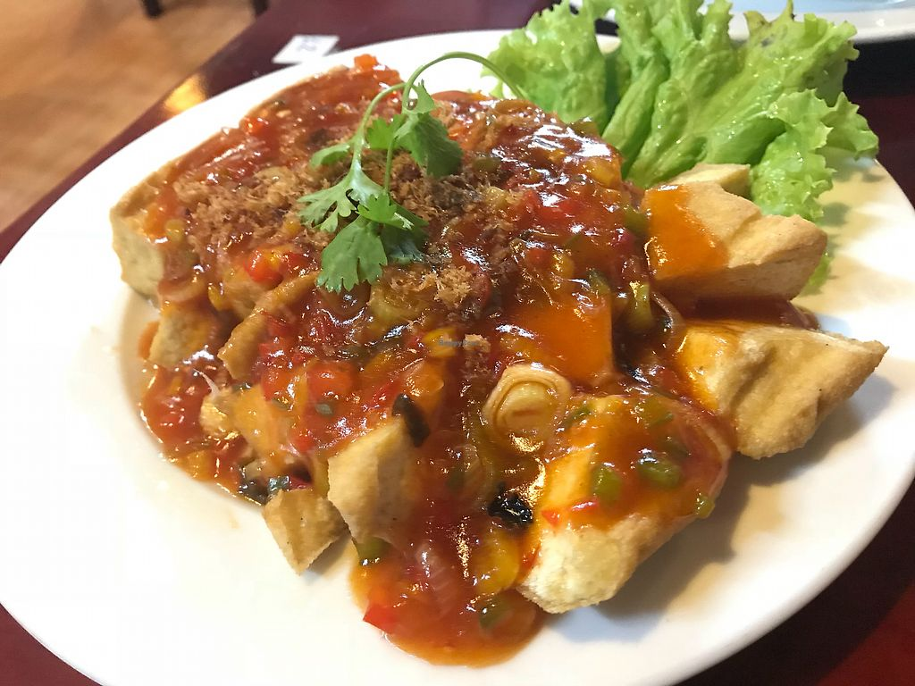 "Photo of Phap Hy  by <a href=""/members/profile/kezia"">kezia</a> <br/>Marinated tofu! This one on of my favourites on the menu <br/> January 27, 2018  - <a href='/contact/abuse/image/106857/351469'>Report</a>"