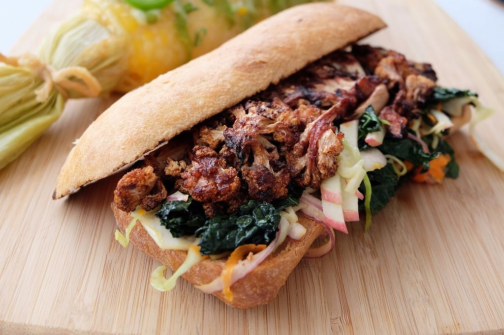 """Photo of Fifi's Bistro  by <a href=""""/members/profile/shelbytj"""">shelbytj</a> <br/>Cauliflower sandwich - tandoori spiced roasted cauliflower, kale & apple slaw, toasted ciabatta  <br/> December 9, 2017  - <a href='/contact/abuse/image/106867/333584'>Report</a>"""