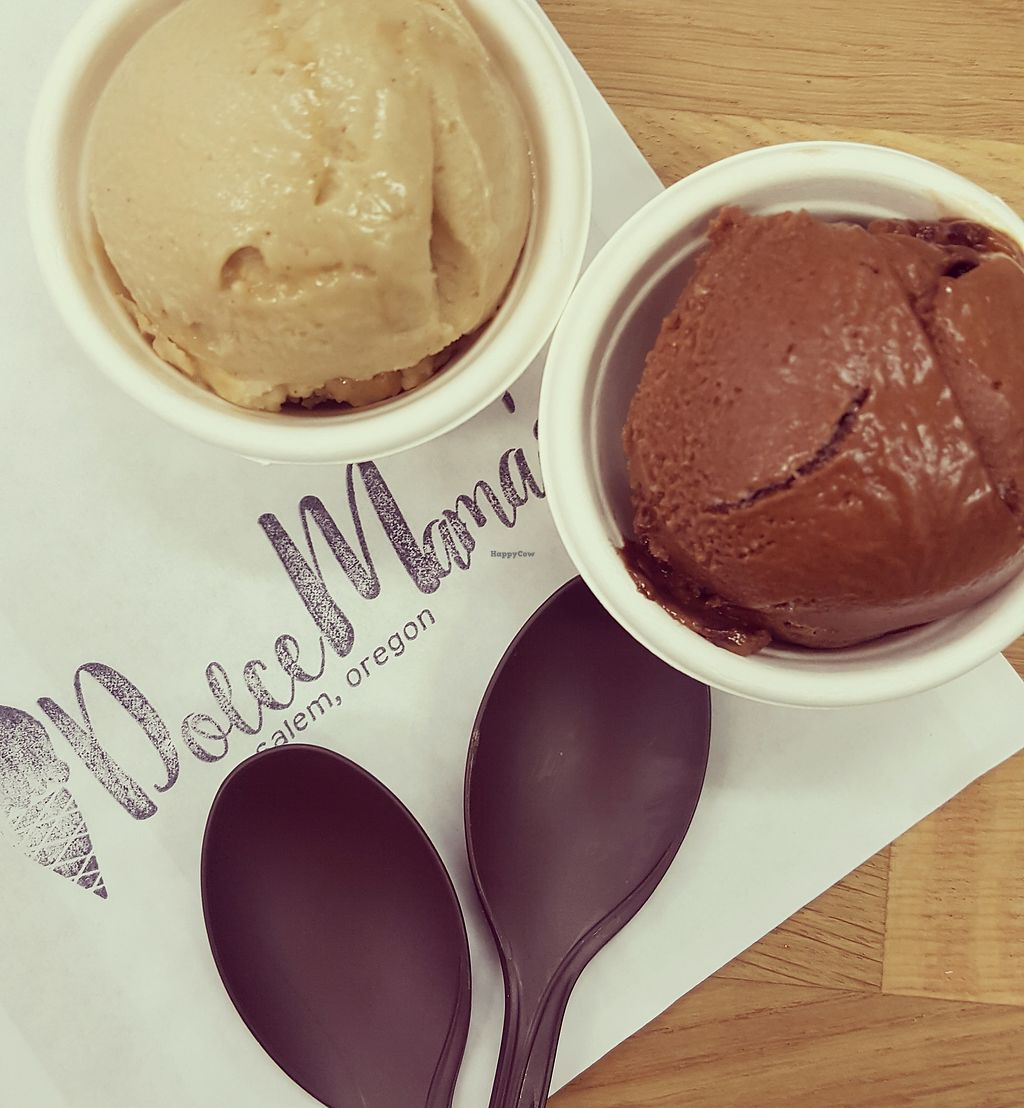 """Photo of Dolce Mama's  by <a href=""""/members/profile/JennaLO"""">JennaLO</a> <br/>Vegan Chocolate Banana Swirl and vegan Gingerbread <br/> December 9, 2017  - <a href='/contact/abuse/image/106884/334090'>Report</a>"""