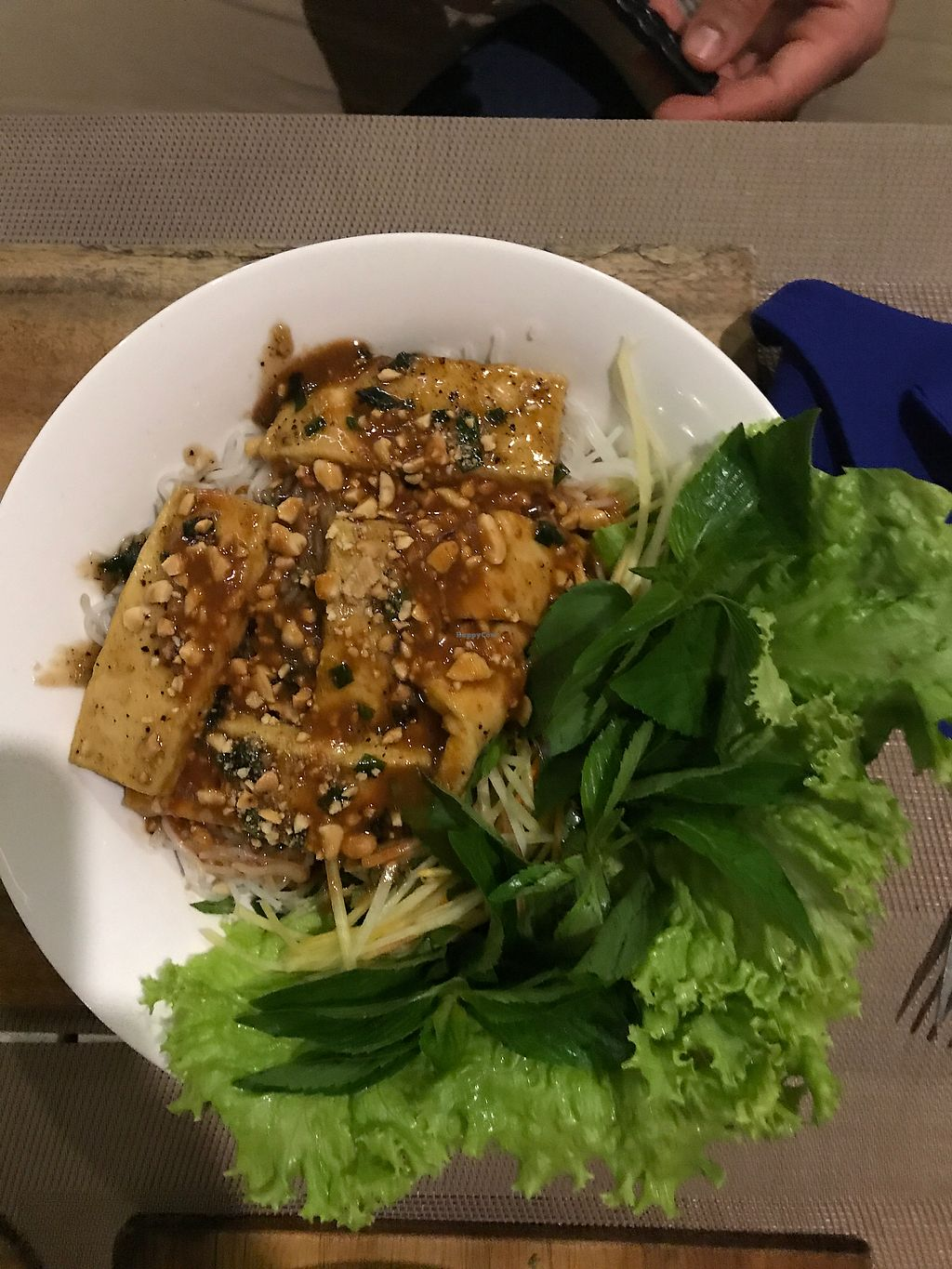 """Photo of Mai Jo Fusion  by <a href=""""/members/profile/Milipili"""">Milipili</a> <br/>Caramellized Tofu with ricenoodle salad <br/> March 4, 2018  - <a href='/contact/abuse/image/106890/366675'>Report</a>"""