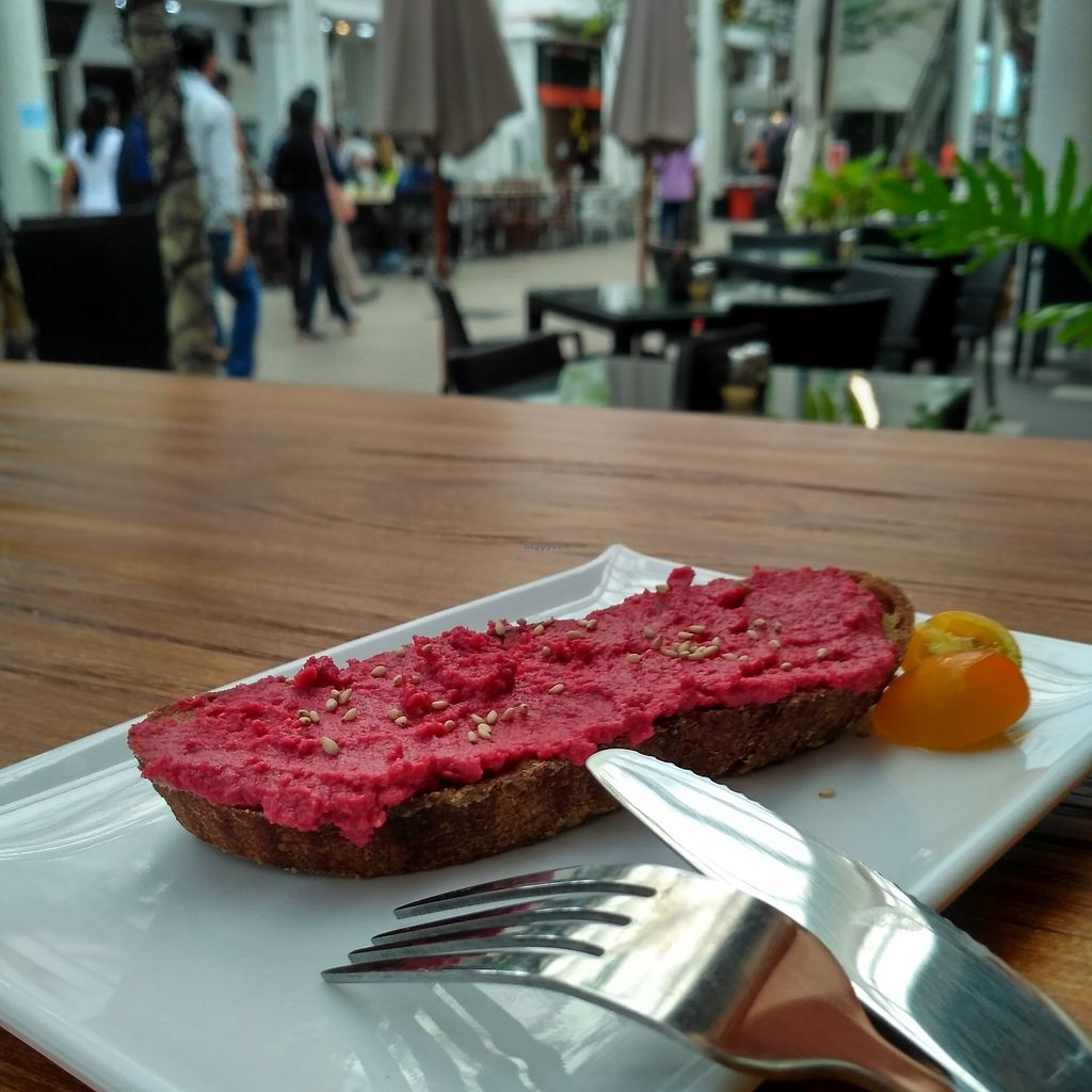 "Photo of Soul ALife  by <a href=""/members/profile/Peace%20..."">Peace ...</a> <br/>Beet Hummus Toast @ S$3.5 <br/> January 5, 2018  - <a href='/contact/abuse/image/106922/343229'>Report</a>"