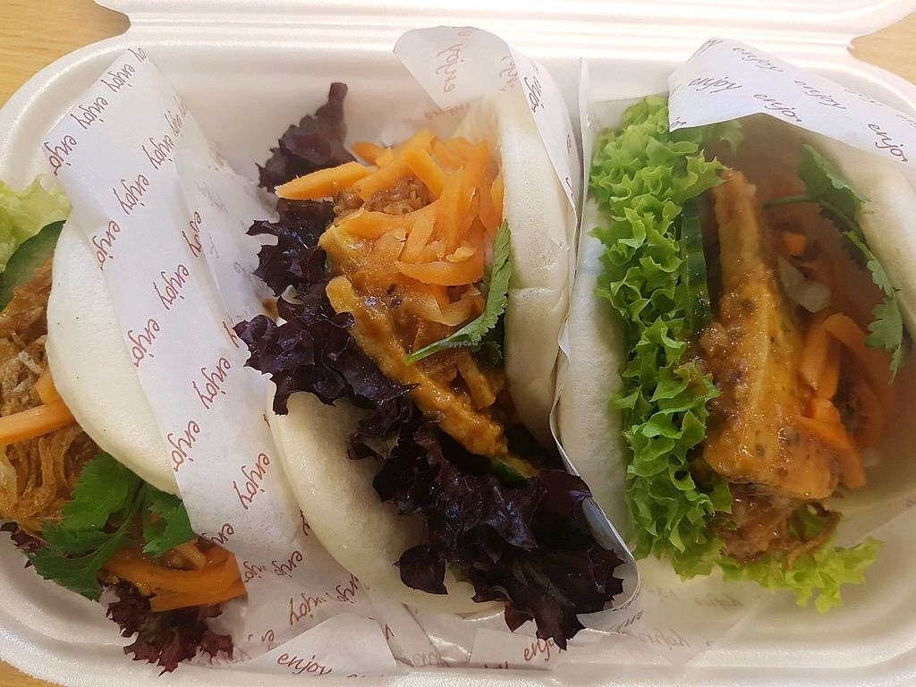 """Photo of Bao House  by <a href=""""/members/profile/annaoslo"""">annaoslo</a> <br/>Bao with tofu, avocado, salad and spicy sauce <br/> December 11, 2017  - <a href='/contact/abuse/image/106932/334702'>Report</a>"""