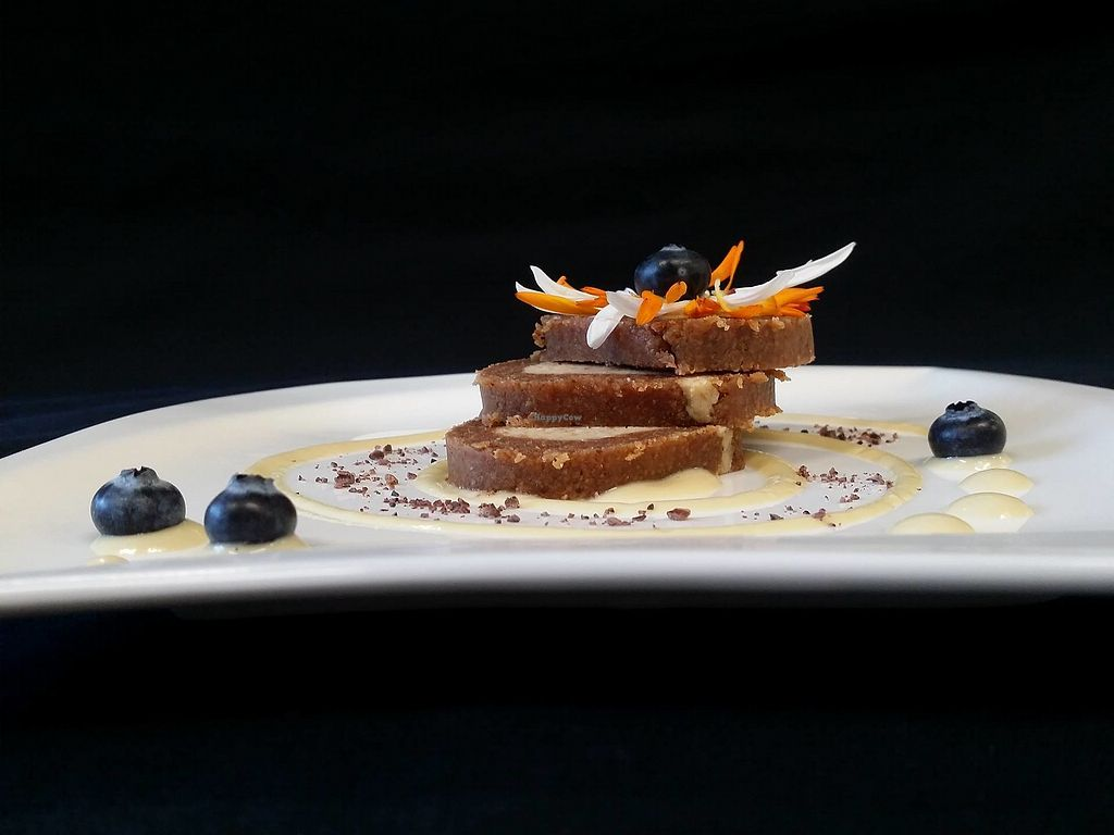 """Photo of Villa Ritter Vital Hotel  by <a href=""""/members/profile/RawChefVillaRitter"""">RawChefVillaRitter</a> <br/>Raw vegan cocoa-coconut roll <br/> December 26, 2017  - <a href='/contact/abuse/image/106984/339238'>Report</a>"""
