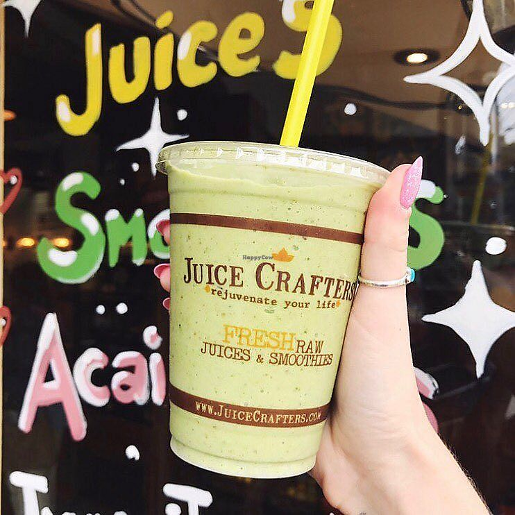 """Photo of Juice Crafters  by <a href=""""/members/profile/JuiceCrafters"""">JuiceCrafters</a> <br/>SILVER CUP – Almond milk, coconut H2O, kale, dates, banana & walnuts <br/> January 9, 2018  - <a href='/contact/abuse/image/107029/344742'>Report</a>"""
