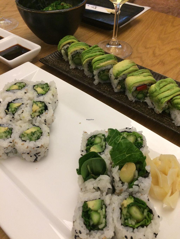 "Photo of Sushi Maru  by <a href=""/members/profile/KorneliaSochanova"">KorneliaSochanova</a> <br/>Evergreen roll, Harvest roll and maki avocado/cucumber <br/> December 12, 2017  - <a href='/contact/abuse/image/107036/335012'>Report</a>"