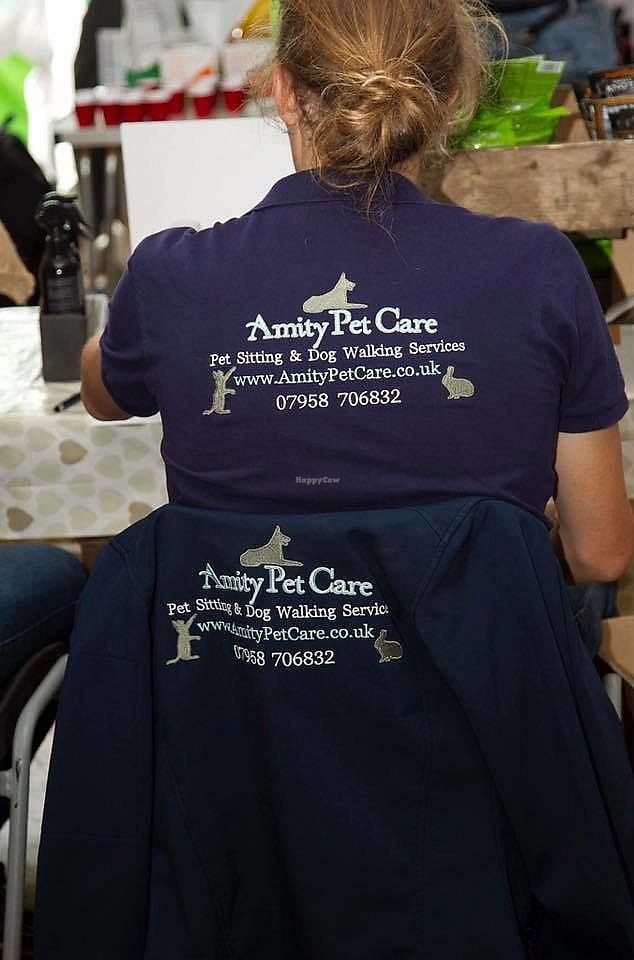 """Photo of Amity Pet Care  by <a href=""""/members/profile/LauraStone90"""">LauraStone90</a> <br/>Amity Pet Care's uniform (worn at events and for consultation visits).  <br/> December 31, 2017  - <a href='/contact/abuse/image/107043/341265'>Report</a>"""
