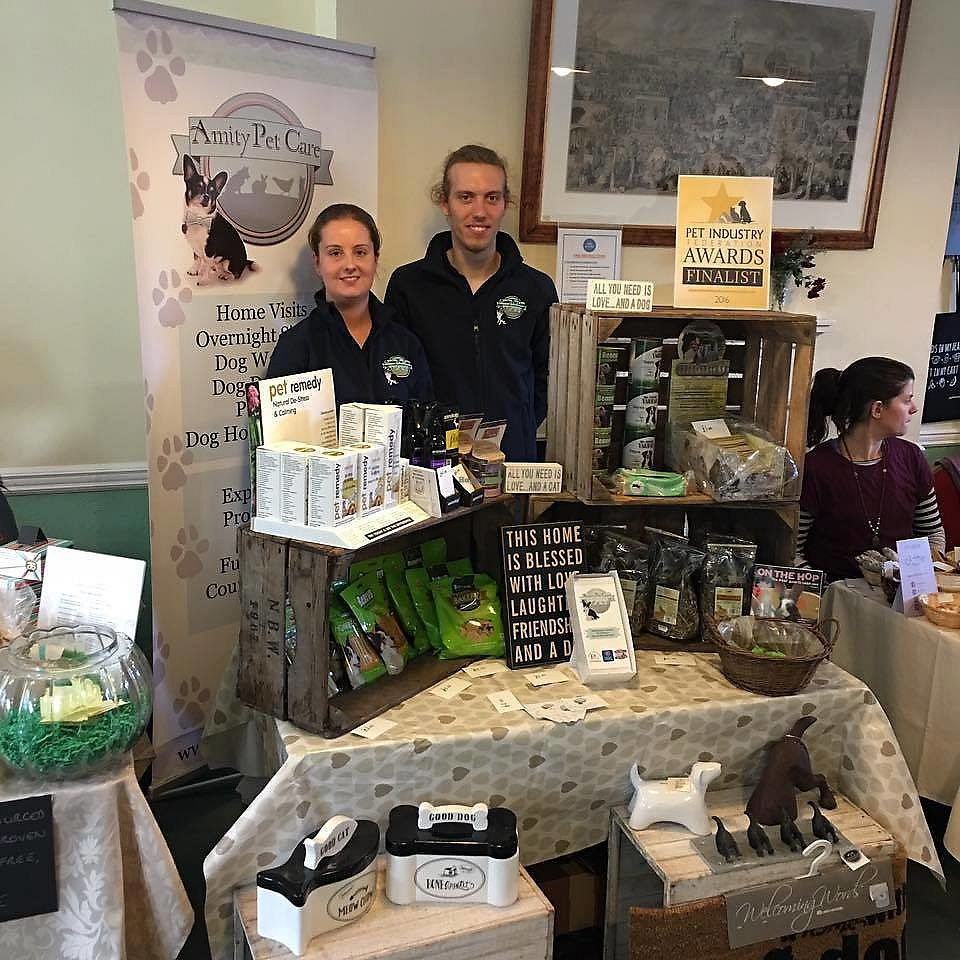 """Photo of Amity Pet Care  by <a href=""""/members/profile/LauraStone90"""">LauraStone90</a> <br/>One of Amity Pet Care's stalls at a Surrey Vegan Fair, selling a range of plant-based, ethical treats and pet food, as well as other natural products <br/> December 31, 2017  - <a href='/contact/abuse/image/107043/341266'>Report</a>"""
